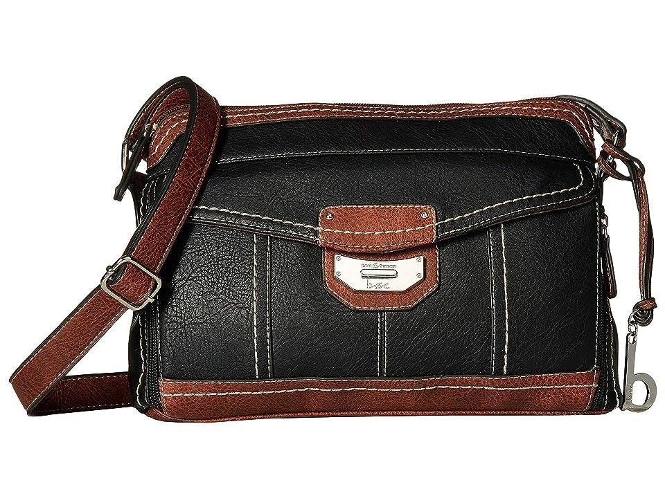 b.o.c. Wixton Crossbody (Black/Saddle) Cross Body Handbags, Multi