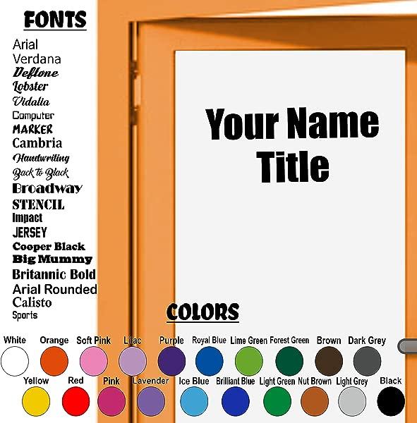 Custom Decal Business Door Vinyl Sticker Custom Name And Title Employees Management Vinyl Sticker Wall Door Decal School Office Decor Business Decal Sticker Come In Welcome Sticker 2 Lines