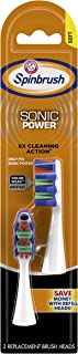 ARM & HAMMER Spinbrush PRO+ Sonic Power Replacement Brush Heads, Soft, 2 Count