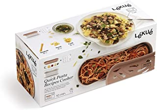 Lekue Quick microwave pasta cooker, one size, Terracotta