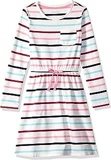 Girl's Long-Sleeve Elastic Waist T-Shirt Dress