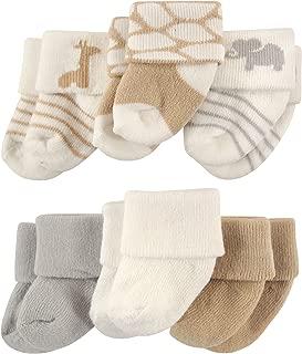 Newborn Baby Terry Socks, 6 Pack
