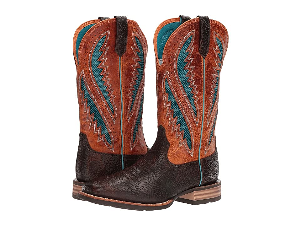 Ariat Quickdraw Venttek (Glazed Bark/Santa Fe Sun) Cowboy Boots