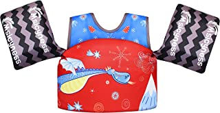 Msicyness Kids Swim Vest Water Floats for Pool Swimming Paddle Learn to Swim Life Jacket from 30 to 50lbs with Arm Wings for Boys and Girls 2-8