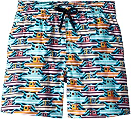 26th July Mykonos Superflex Jirise Mykonos Printed Trunks (Toddler/Little Kids/Big Kids)
