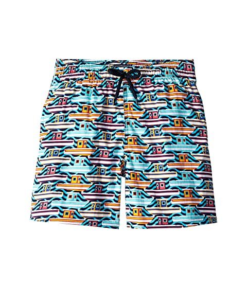 Vilebrequin Kids 26th July Mykonos Superflex Jirise Mykonos Printed Trunks (Toddler/Little Kids/Big Kids)