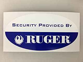 1 Handgun Home Security Provided By Decals Various Names by SBD Decals (Ruger)