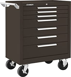 Kennedy Manufacturing 277Xb 7-Drawer Roller Tool Cabinet With Chest Wheels And Ball-Bearing Slides, Brown Wrinkle