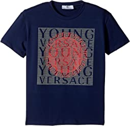 Versace Kids - Short Sleeve T-Shirt w/ Medusa Logo Design On Front (Big Kids)