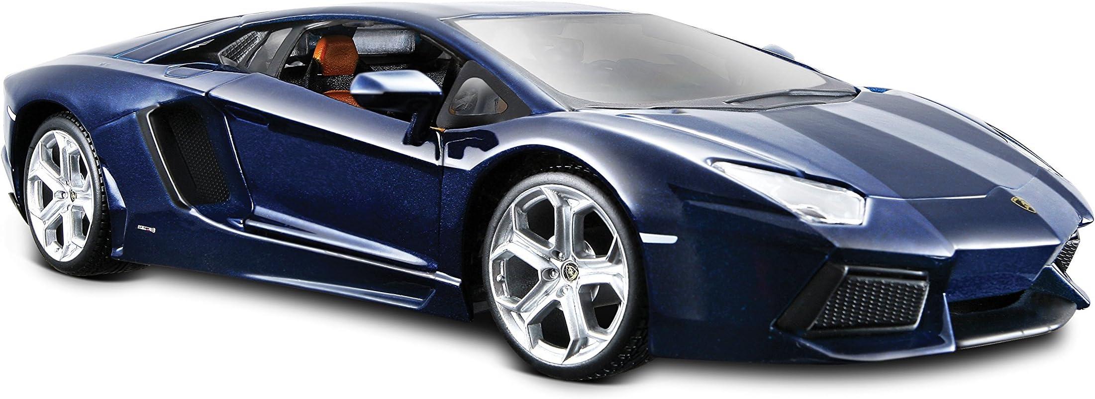 Maisto Lamborghini Aventador LP 700-4 Diecast Vehicle (1:24 Scale), Metallic Blue
