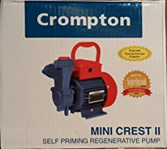 Crompton Mini Sapphire I Surface Domestic Single Phase Pressure Pump (Aluminium, Blue)