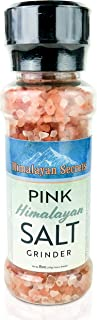 Natural Pink Himalayan Cooking Salt in Refillable Grinder - 8 oz Healthy Unrefined Coarse Salt Packed with Minerals - Kosh...