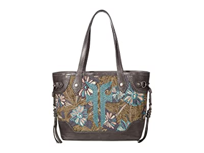 Frye Melissa Embroidery Carryall (Carbon Multi) Handbags