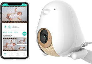 Cubo Ai Plus Smart Baby Monitor: Sleep Safety Alerts for Covered Face, Danger Zone & Sleep Analytics - 1080p HD Night Vision Camera, 2-Way Audio, Cry & Temperature Detection (Incl. 3 Stands)