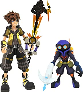 DIAMOND SELECT TOYS Kingdom Hearts 3: Guardian Form Sora & Air Soldier Heartless Select Action Figure Two Pack, Multicolor
