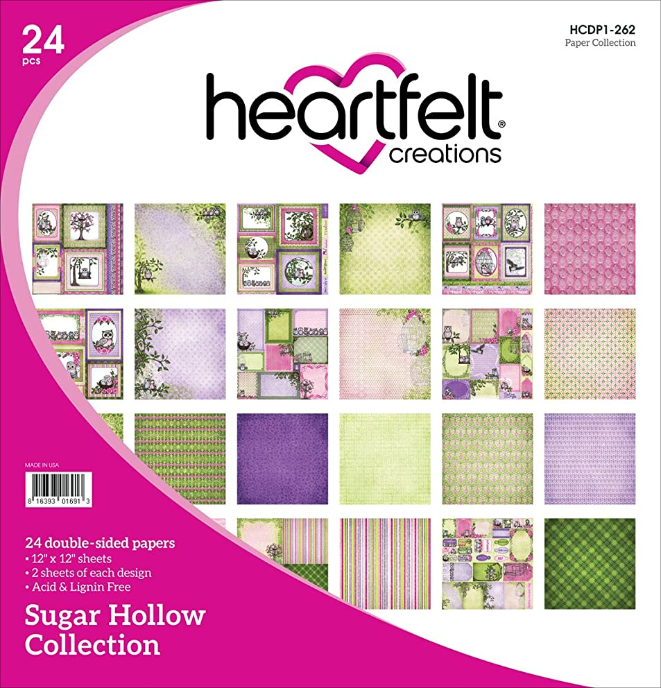 Heartfelt Creations Sugar Hollow, 12 Designs/2 Each Double-Sided Paper