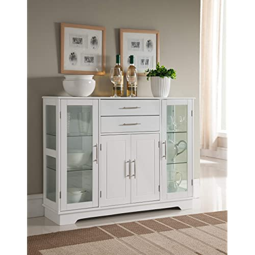 White Kitchen Cabinet Door with Glass: Amazon.com