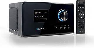 Blaupunkt IRD 300 Wlan Internet Radio,DAB+, Bluetooth,UKW Empfang, Küchen  oder Büroradio,Radiowecker und Uhrenradio, Farb Display mit App Funktion,Miniradio inkl.Fernbedienung, Schwarz