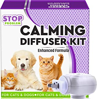 Beloved Pets Pheromone Calming Diffuser Plug in + Refill for Cats and Dogs with Long-Lasting Effect - Enhanced Calm Formula of Anxiety Relief & Pet�s Behavior Control - Best Natural Stress Prevention