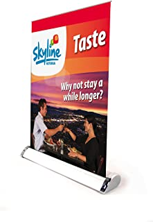 Displayfactory USA Mini Roll up Stand Table Top Retractable Banner A3 Size Single/double Sided Aluminum Exhibition Display Trade Show Sign Holder (6 Pack Single Sided)