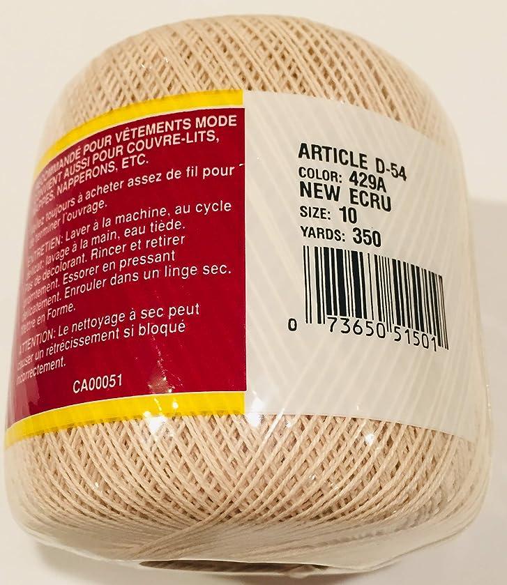 South Maid 350 Yards Mercerized Cotton Yarn New Ecru #429A D-54