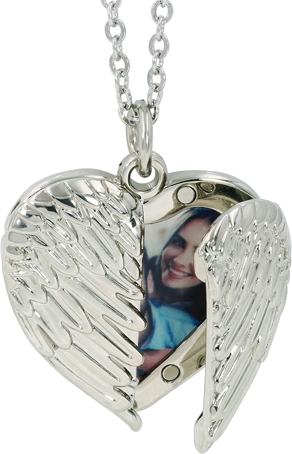 STARATION Personalized Mail order cheap Angel Wings Heart San Francisco Mall Holds Photo Locke Shape