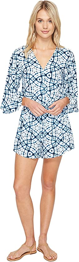Shibori Playsuit Cover-Up