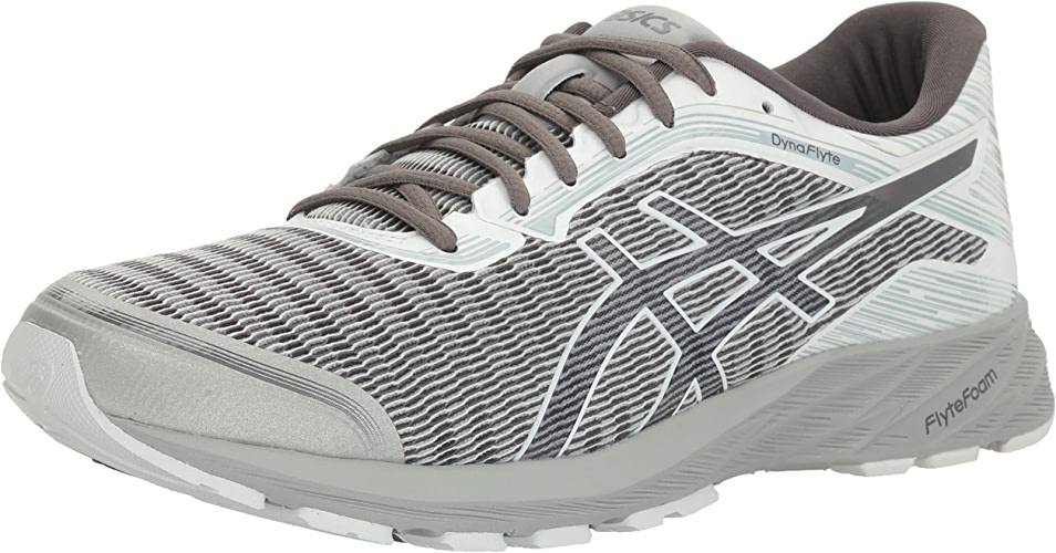 ASICS Men's Dynaflyte Running chaussures, Mid gris Carbon blanc, 7 M US