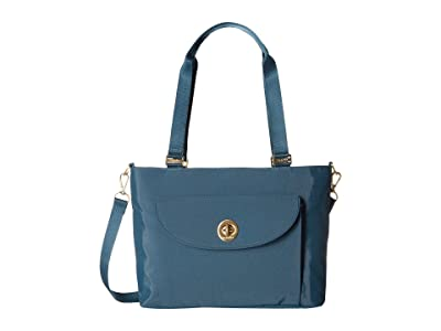 Baggallini La Paz Tote (Slate Blue) Handbags