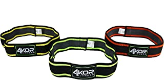 4KOR Fitness Resistance Loop Band Set, Perfect for Crossfit, Yoga, Physical Therapy, and Booty Building (2 Inch Hip Bands 3 Piece Set/Grippy/ Medium)