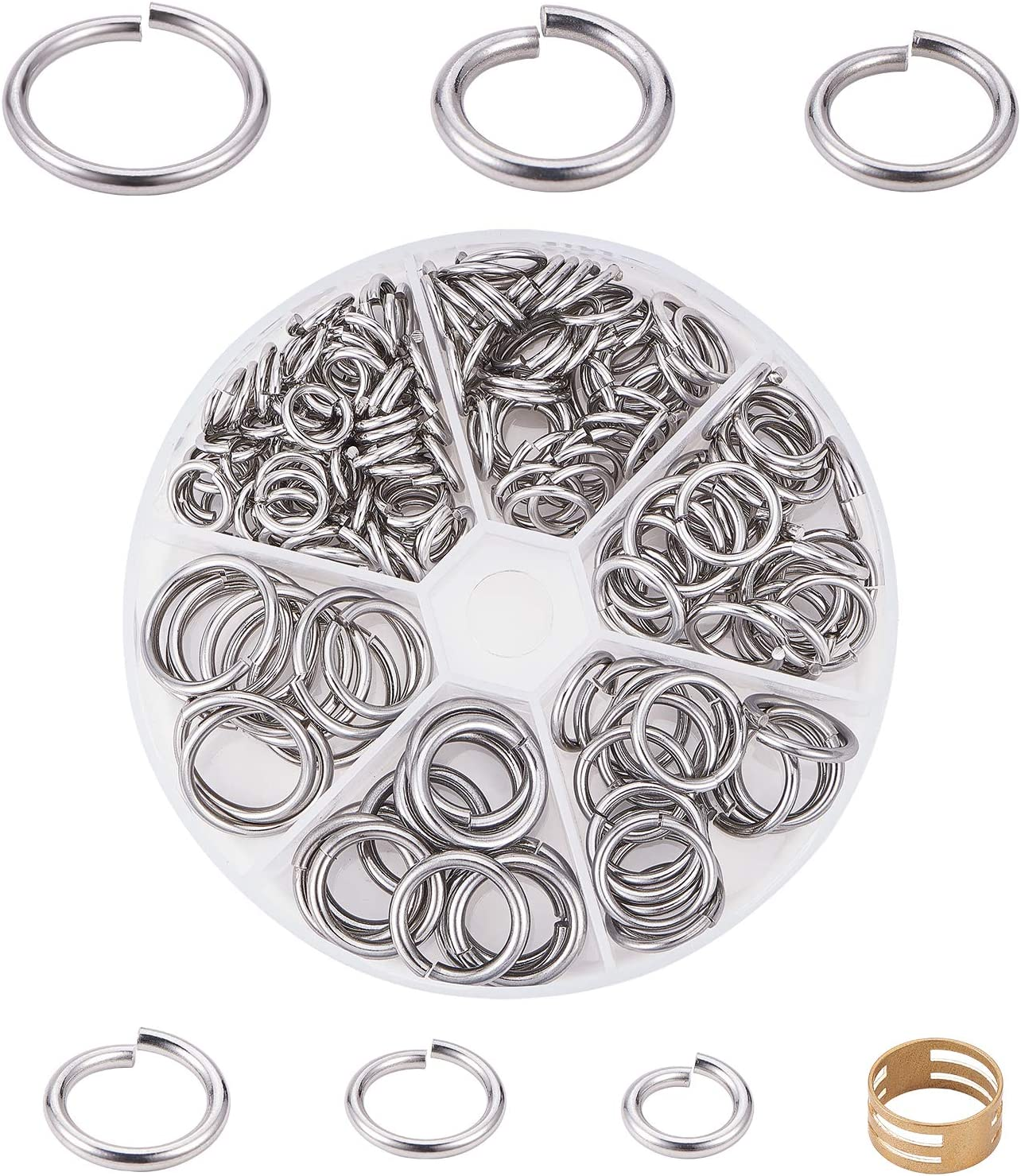 UNICRAFTALE About 180pcs 6 OFFer Sizes 10 12 Max 41% OFF 14 18 Jumps 16 20mm Rings