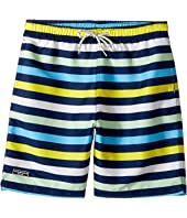 Toobydoo - Multi Stripe Swim Shorts (Short) (Infant/Toddler/Little Kids/Big Kids)