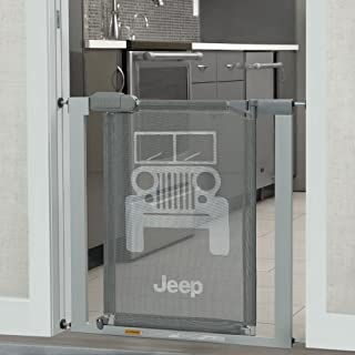 Delta Children Jeep Adjustable Baby and Pet Safety Gate by Easy Fit Pressure Mount Design with WalkThrough Door – Fits Ope...
