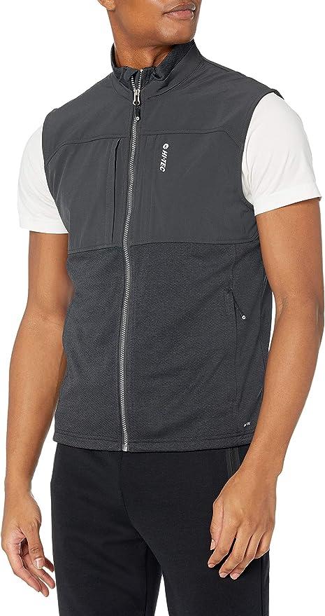 Hi-Tec Mens  Fan Point Mesh Back Zip Vest with Active DRI-TEC