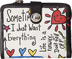 Fashionista Love Scribble Medium Wallet