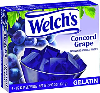 Welch's Gelatin, 3.99 Ounce (Concord Grape, Pack - 6)