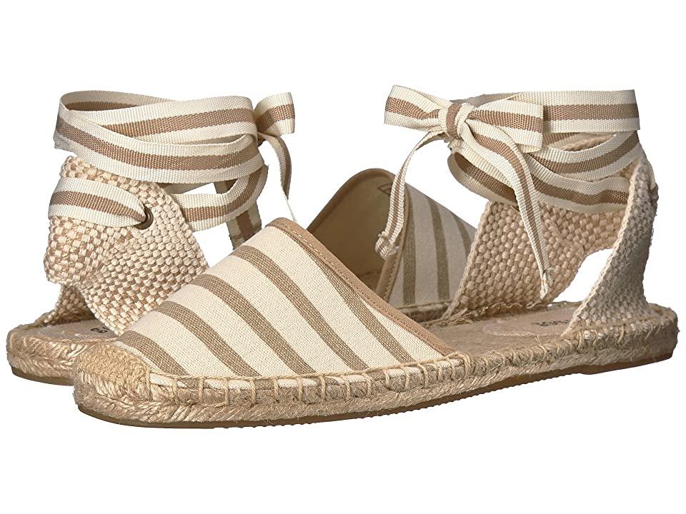 Soludos Classic Stripe Sandal (Natural/Tan) Women