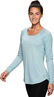RBX Active Women's Long Sleeve Super Soft Space Dye Workout Running Tee Shirt