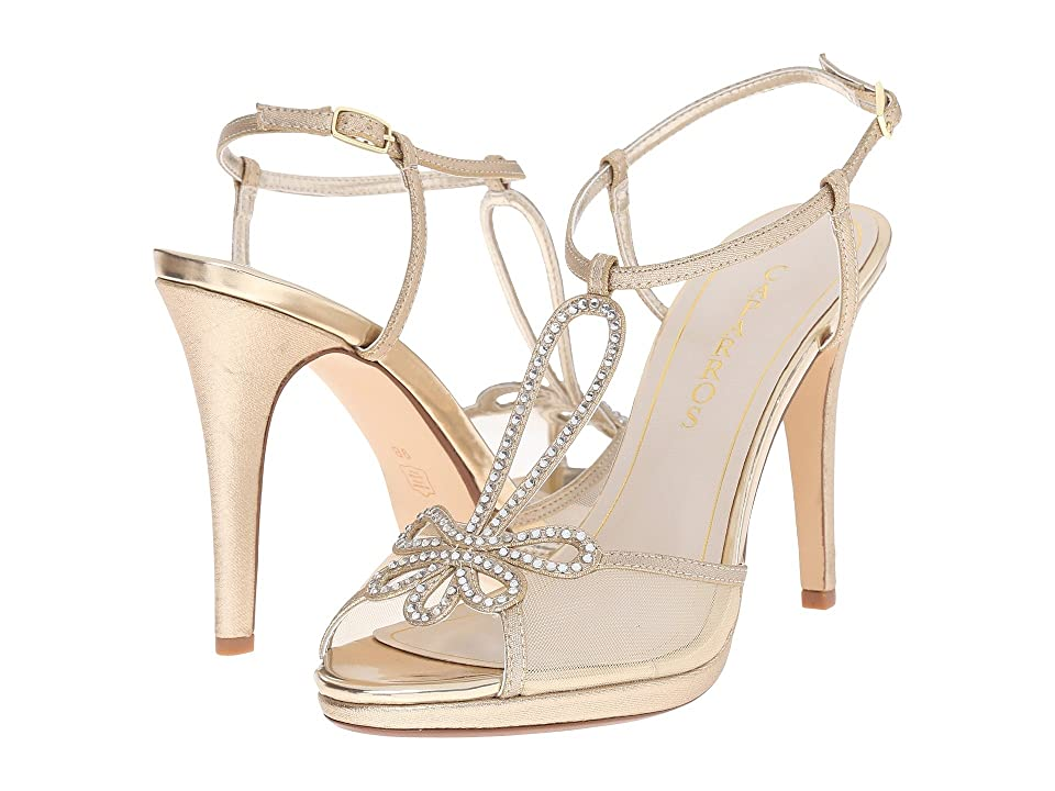 Caparros Claudia (Gold Metallic Fabric) High Heels