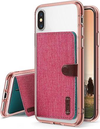 Ringke [Fusion Flip 2 in 1 Compatible con Funda iPhone X Cristal Transparente PC Volver TPU Bumper Fusion Cubierta con Flip Cartera Funda para iPhone 10 - Rose Gold & Rosa