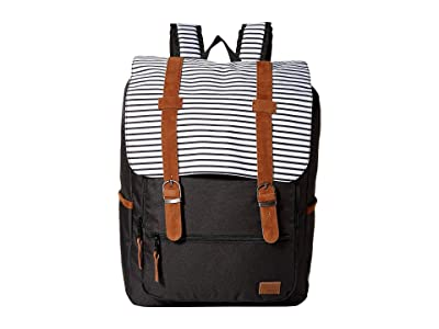 Roxy Ocean Vibes Backpack (Anthracite Marina Stripes) Backpack Bags