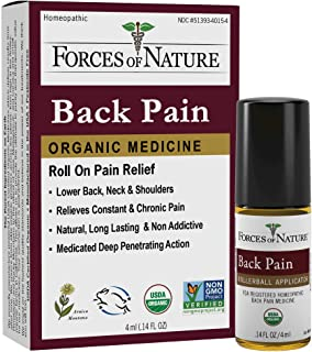 Forces of Nature -Natural, Organic Back Pain Relief (4ml) Non GMO, No Harmful Chemicals –Fast Acting Anti-Inflammatory Rel...