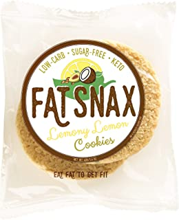 Fat Snax Cookies - Low Carb, Keto, and Sugar Free (Lemony Lemon, 12-pack (24 cookies)) - Keto-Friendly & Gluten-Free Snack Foods