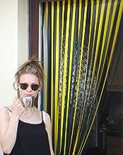 Holland Plastics Original Brand Slat Type Door Curtain Bug Fly Strip Blind - YELLOW AND GREEN