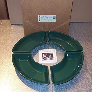 Longaberger Pottery Dishes Crescent Green Ivy Made In USA New In Box Set of 4