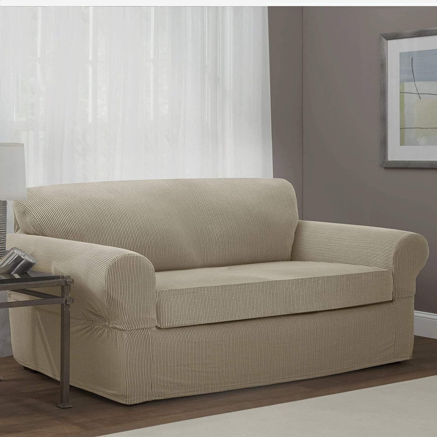 Stretch Box Ranking TOP15 Cushion Loveseat Slipcover Material: Upholstery Pol Excellent