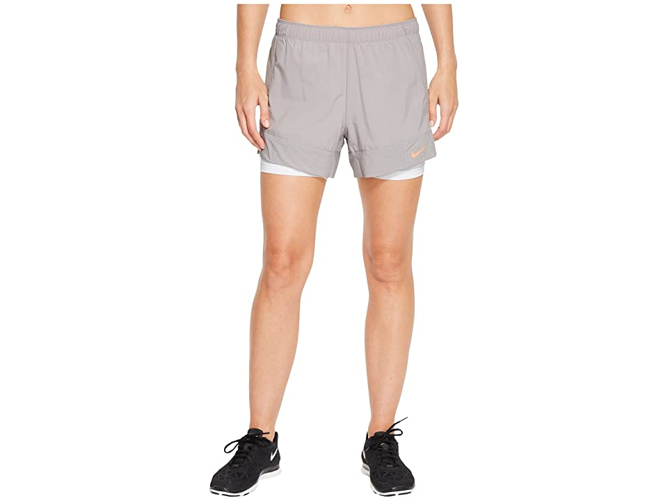 Nike Flex 2-in-1 Short (Atmosphere Grey/White/Crimson Pulse) Women's Shorts, Gray