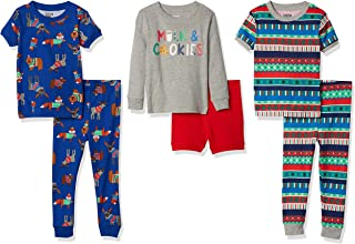 Spotted Zebra Pijama de algodón de Ajuste cómodo Niños, Pack de 6
