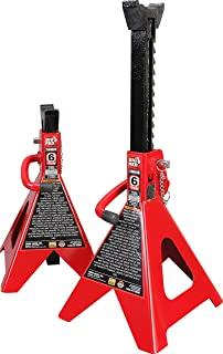 Torin Big Red Steel Jack Stands: Double Locking, 6 Ton (12,000 lb) Capacity, 1 Pair