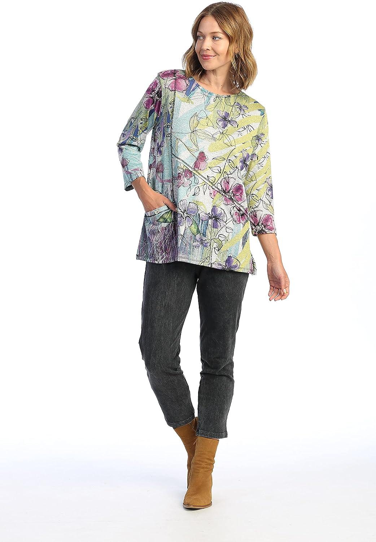 Jess & Jane Women's Rebecca Contrast Seam Tunic Top